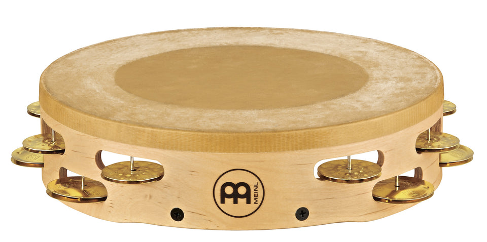 Meinl AE-MTAH2B Artisan Edition Headed Tambourine Solid Brass Jingles 2 Rows