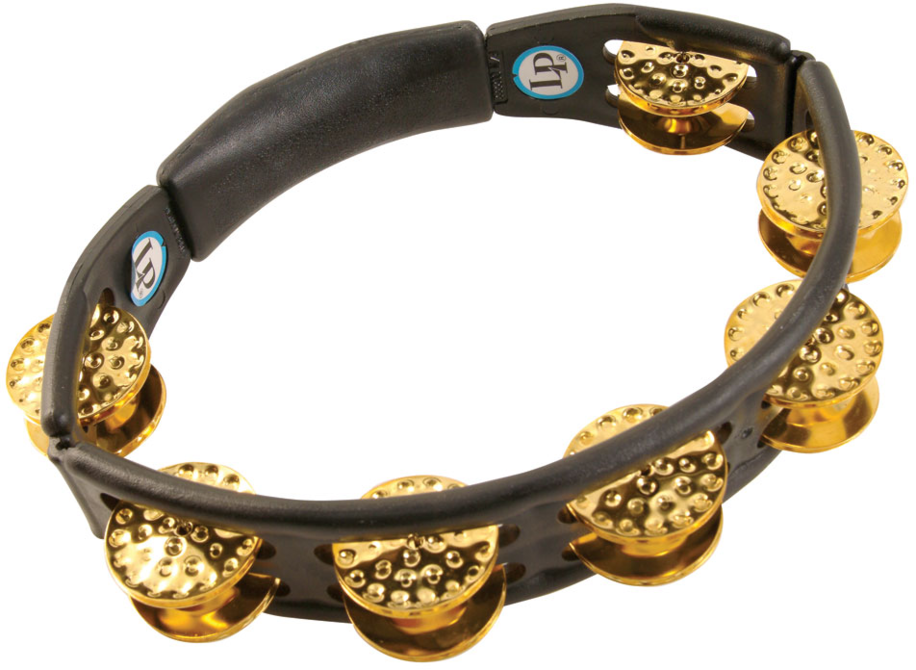 LP LP174 Cyclops Dimpled Jingle Tambourine, Brass/Black/Hand Held