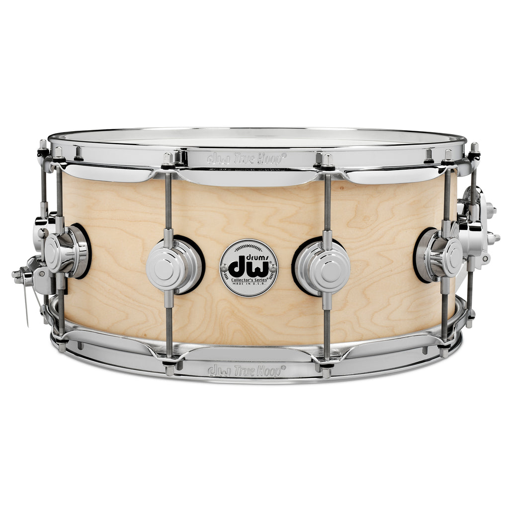 "Drum Workshop 14"" x 6"" Collector's Series Pure Maple Snare Drum - Natural Satin Oil With Chrome Hardware"