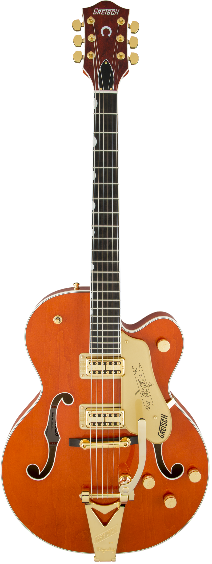 Gretsch G6120T Players Edition Nashville Hollow Body Electric Guitar W/ Bigsby - Ebony Fingerboard, Orange Stain