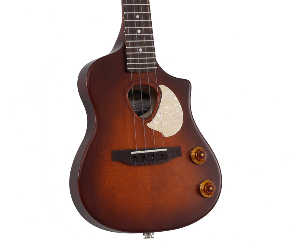 Seagull Uke Nylon String SG Burst EQ Acoustic Electric Soprano Ukulele - Burnt Umber