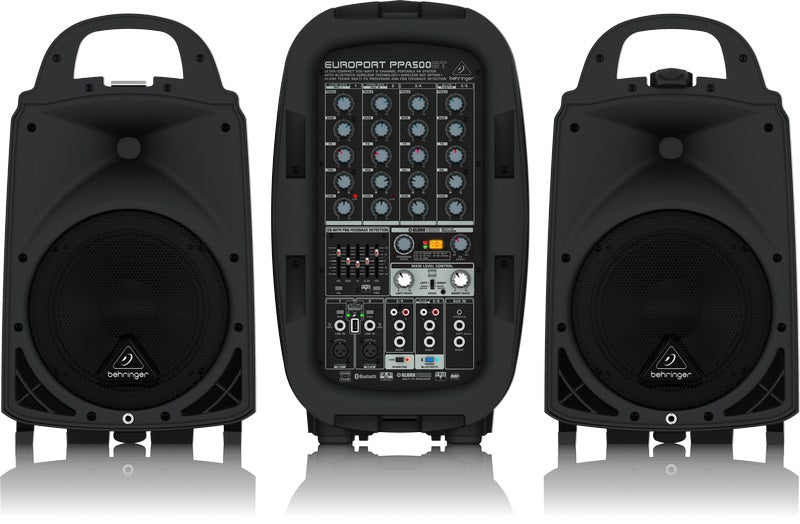 Behringer PPA500BT Ultra Compact 500W 6 Channel Portable PA System W/ Bluetooth