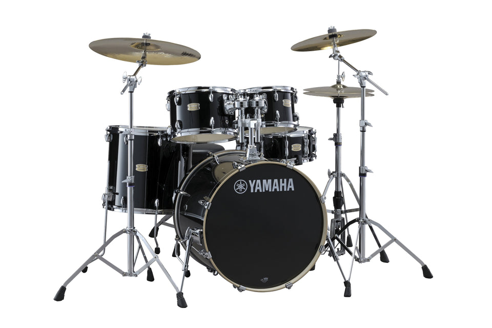"Yamaha Stage Custom Birch 22"" Kick 5 Piece Shell Pack - Raven Black"