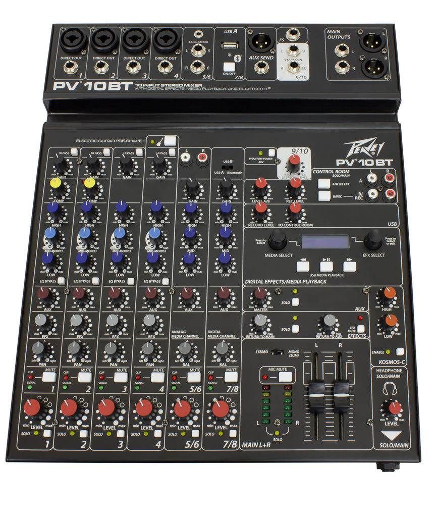 Peavey PV 10 BT Compact 10 Channel Mixer
