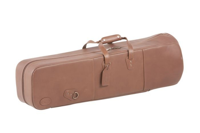 Reunion Blues Double Trombone Case - Chestnut Brown Leather