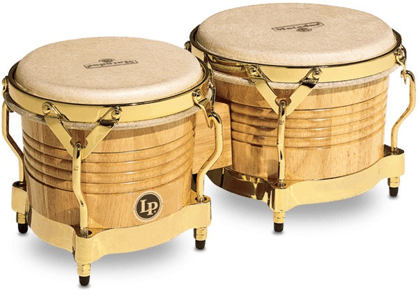 LP M201-AW Matador Wood Bongos, Natural/Gold Tone