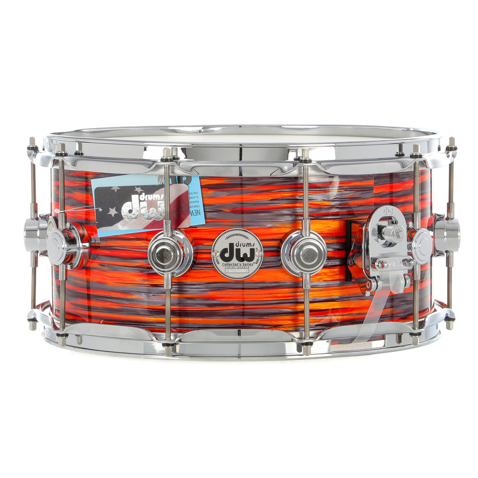 "Drum Workshop 14"" x 6.5"" Collector's Series Pure Oak Snare Drum - Tiger Oyster With Chrome Hardware"