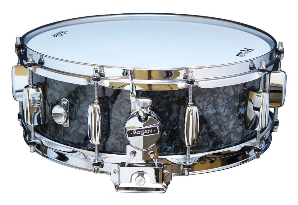 "Rogers 14"" x 5"" Dyna-Sonic Wood Shell Snare Drum - Black Pearl"