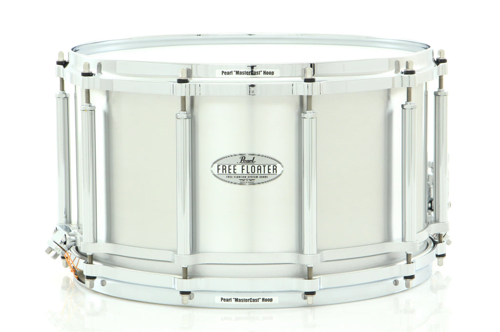 "Pearl 14"" x 8"" Seamless Aluminum Free Floating Snare Drum"