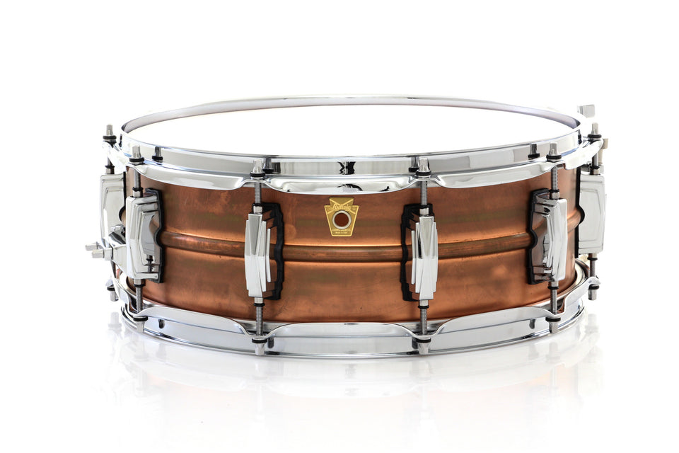"Ludwig 14"" x 5"" Copper Phonic Snare Drum Smooth Raw Copper Finish"