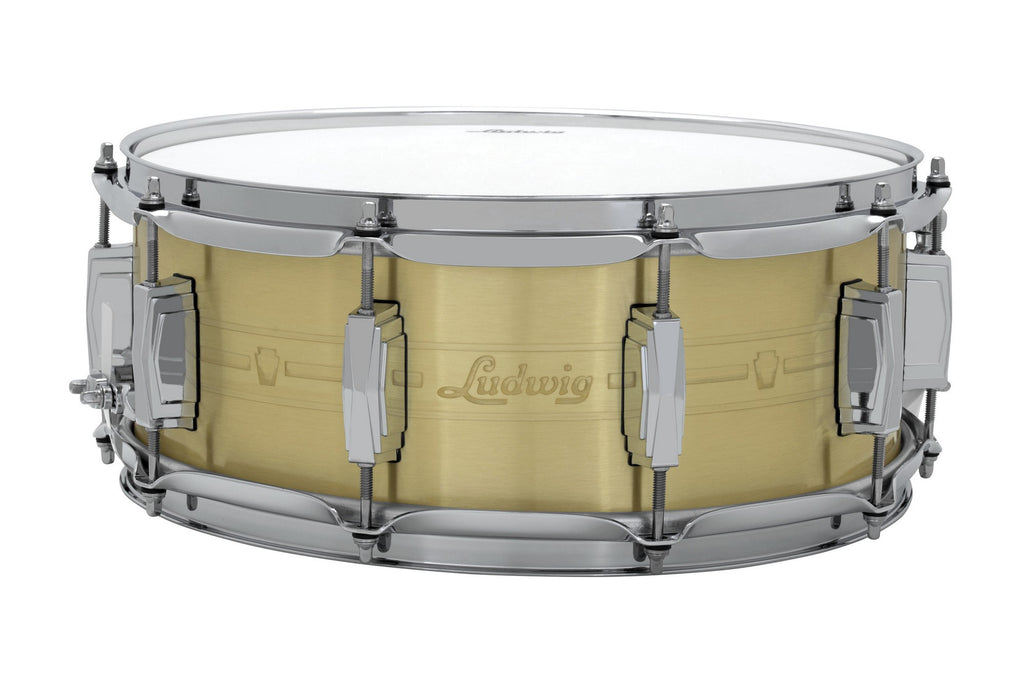 "Ludwig 14"" x 5.5"" Heirloom Brass Snare Drum"