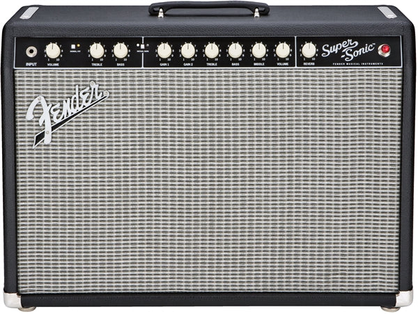 Fender Supersonic 22w Tube Guitar Combo - Black