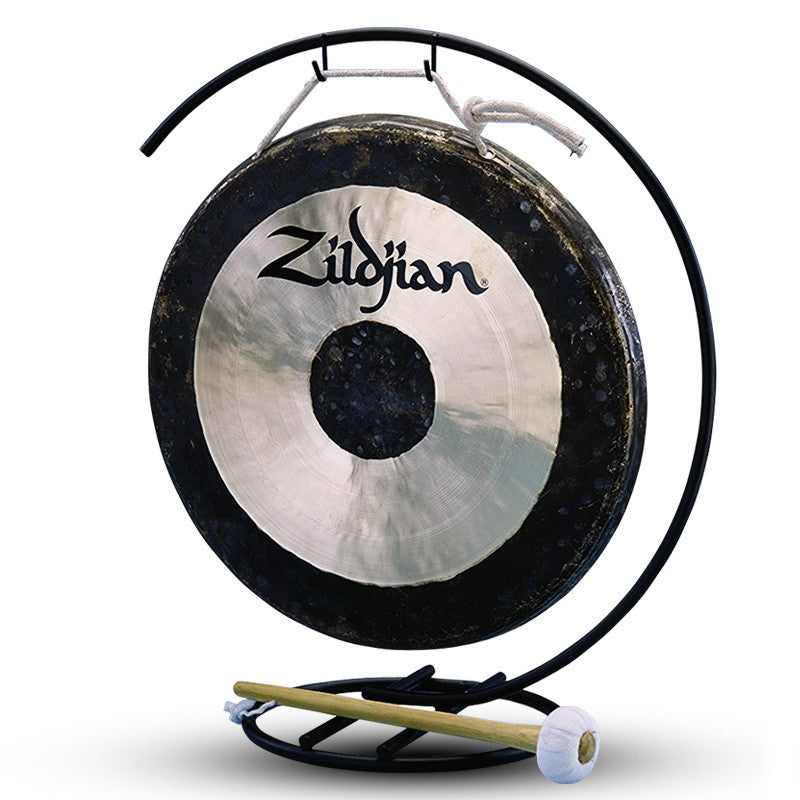 "Zildjian 12"" Traditional Gong And Table-Top Stand Set"