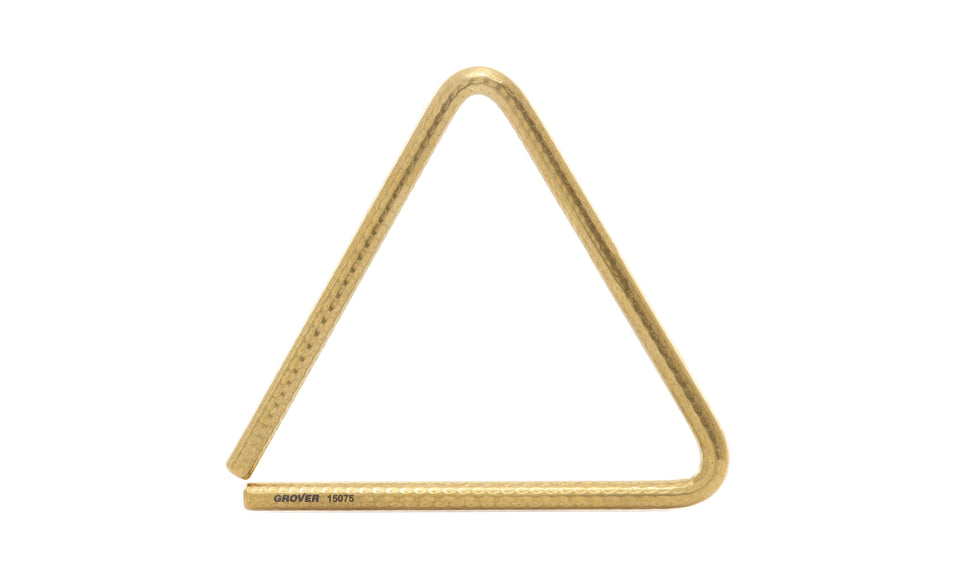 "Grover TR-BPH-8 8"" Bronze-Pro Hammered Triangle"