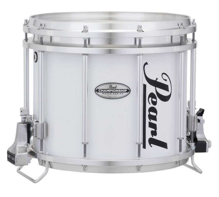 "Pearl FFXM1412 14"" x 12"" Championship Maple Marching Snare Drum - Pure White"