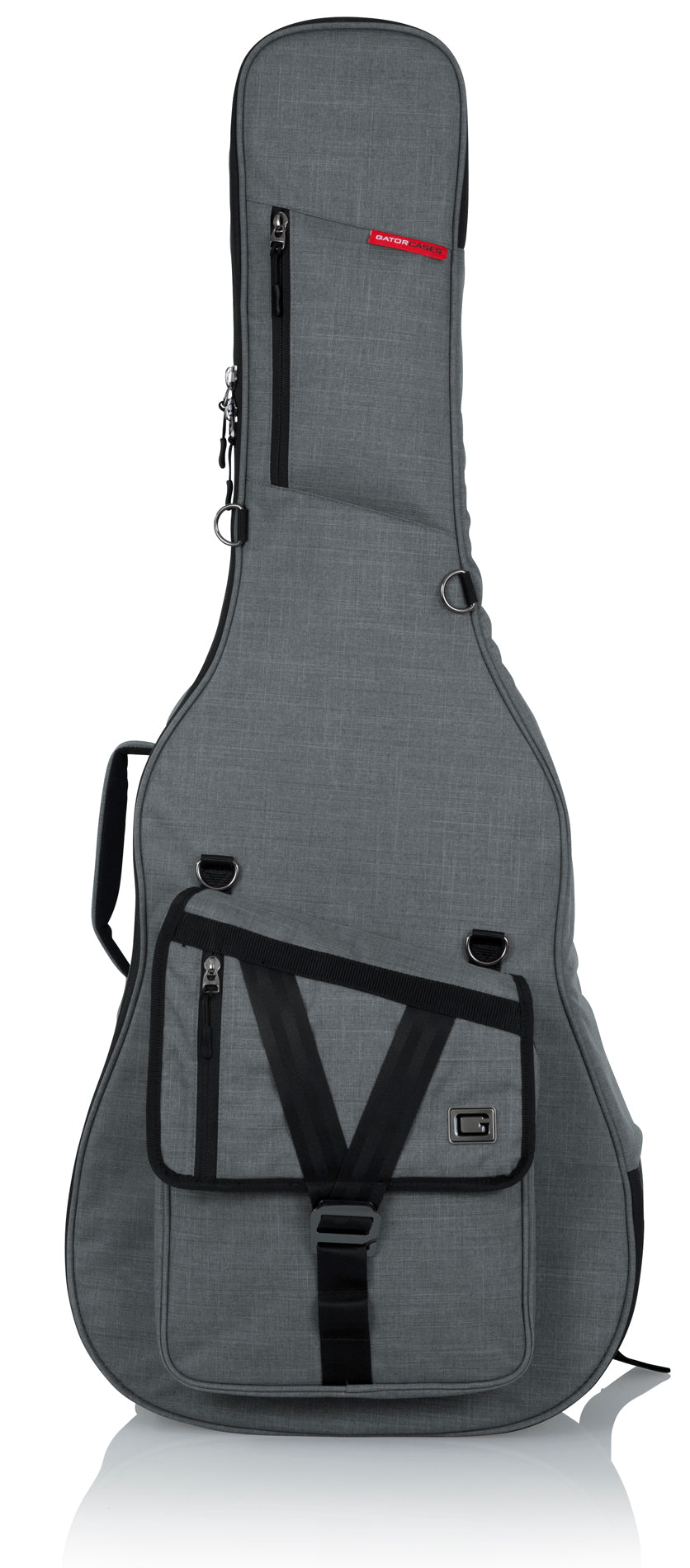 Gator GT-ACOUSTIC-GRY Transit Acoustic Guitar Bag - Light Grey