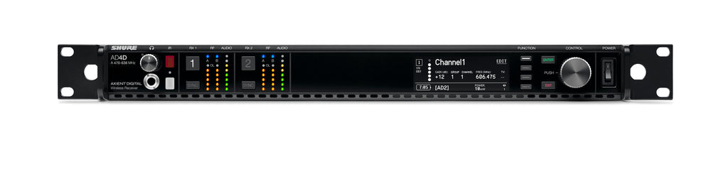 Shure AD4D Axient Digital Dual Channel Receiver