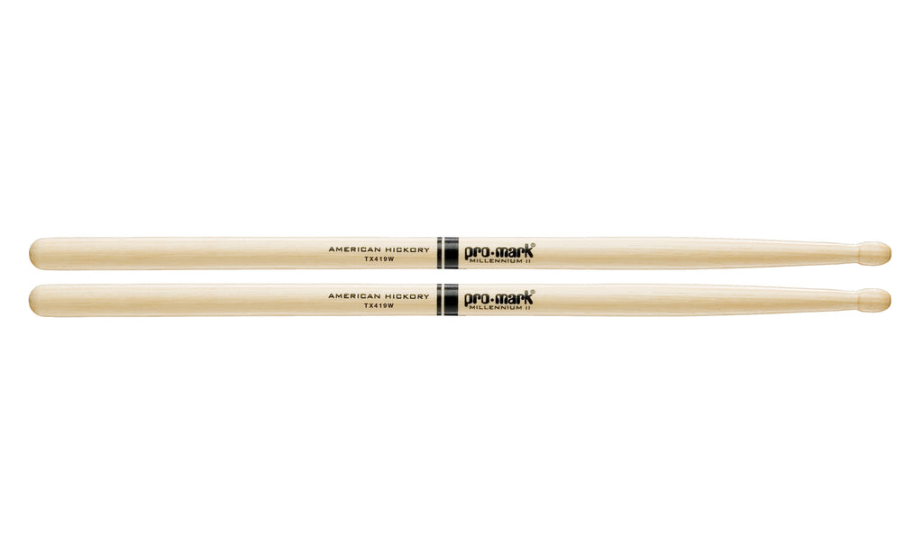 Promark TX419W Hickory 419 Wood Tip drumstick