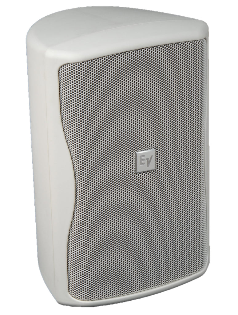 ELECTRO-VOICE ZX1I-100TW white 8-in two-way weatherized speaker w/ 100x100 coverage pattern.