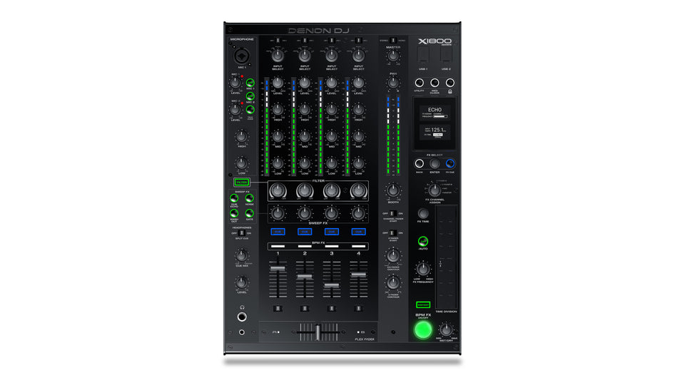 Denon X1800PRIME Professional 4-Channel DJ Club Mixer