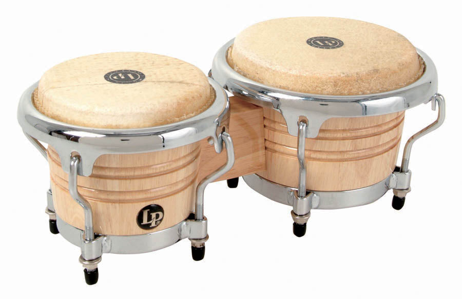 LP LPM199-AW Music Collection Natural Wood Bongos Mini Tunable