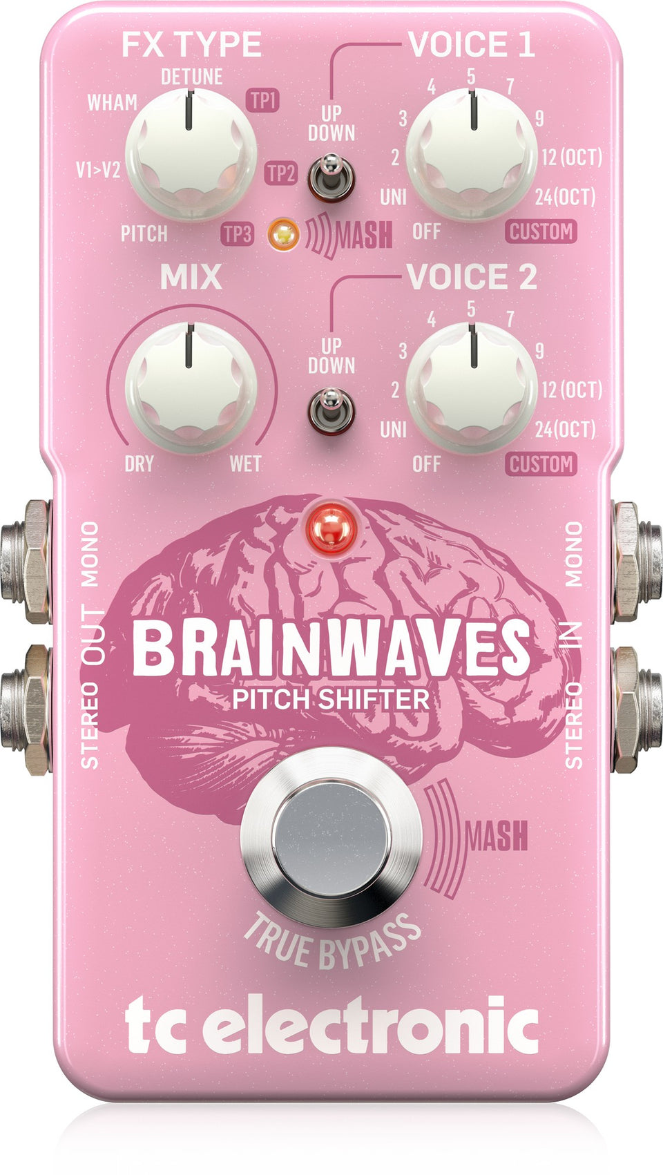 TC Electronic BRAINWAVES Pitch Shifter Guitar Pedal