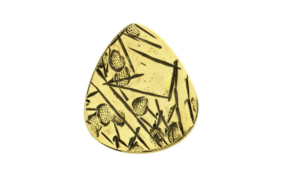 Master Artisan Etched Brass Guitar Pick