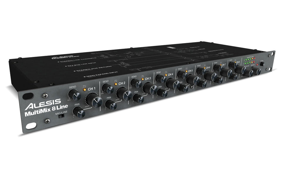 Alesis MultiMix 8 Line Stereo Line Mixer