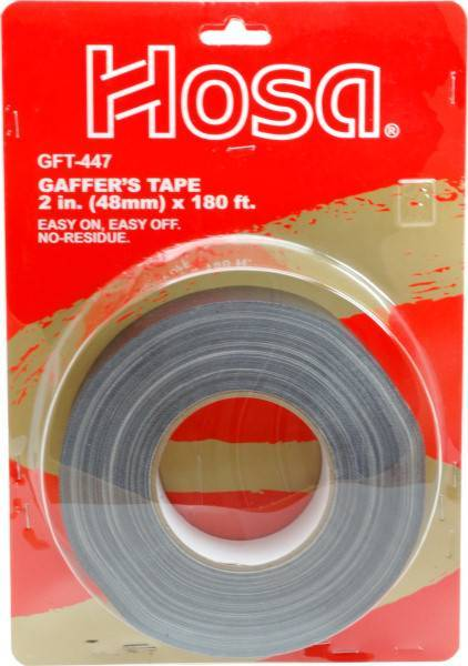 Hosa GFT447BK 60 Yards x 2 inches Multiple purpose utility tape, Black