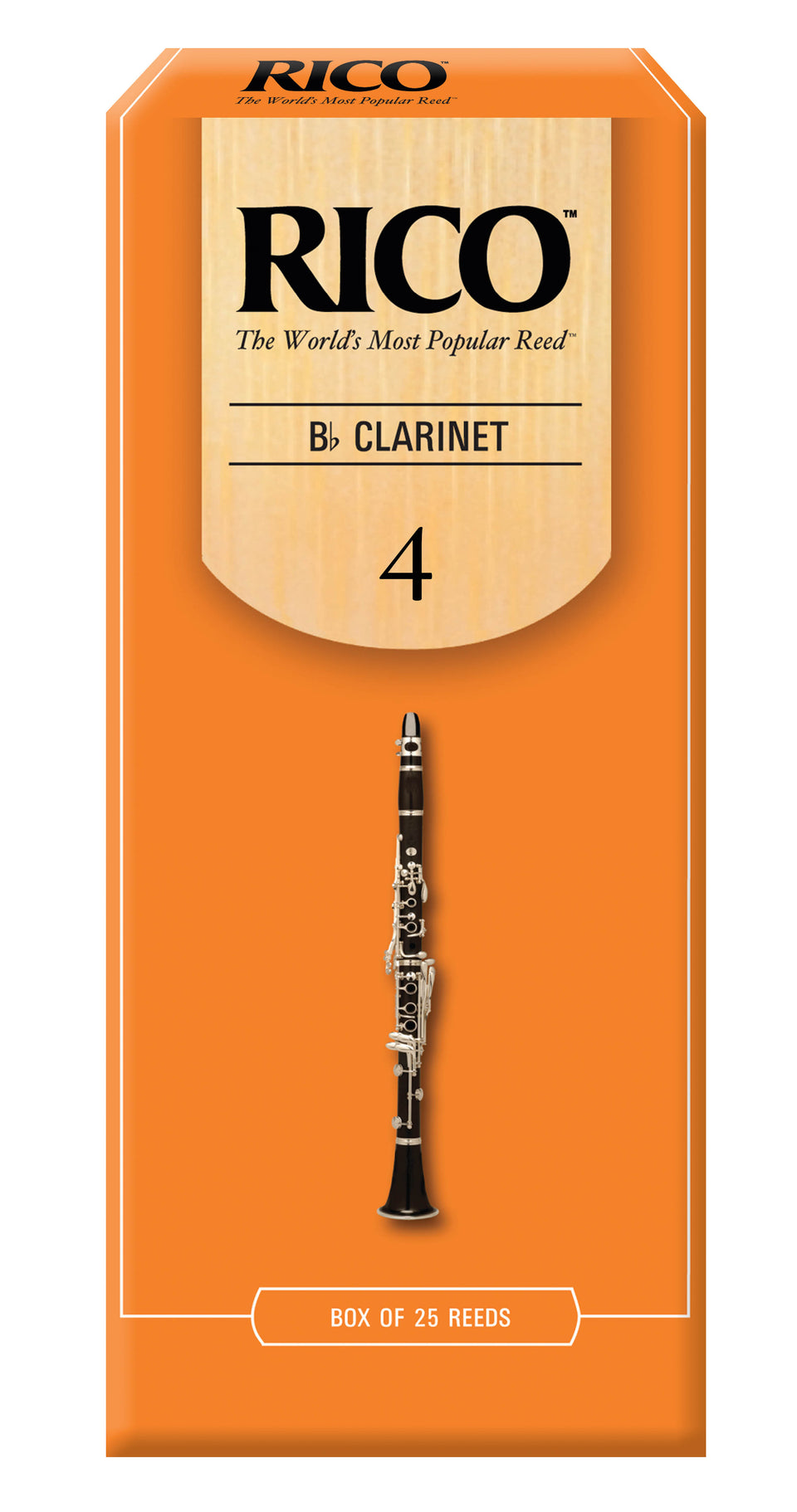 Ddaddario Woodwinds RCA2540 Rico B-Flat Clarinet Reeds, Strength 4.0, 25-pack