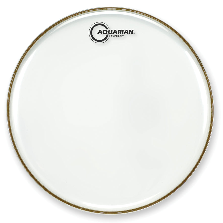 "Aquarian 16"" Super-2 Clear Tom Tom Drum Head"