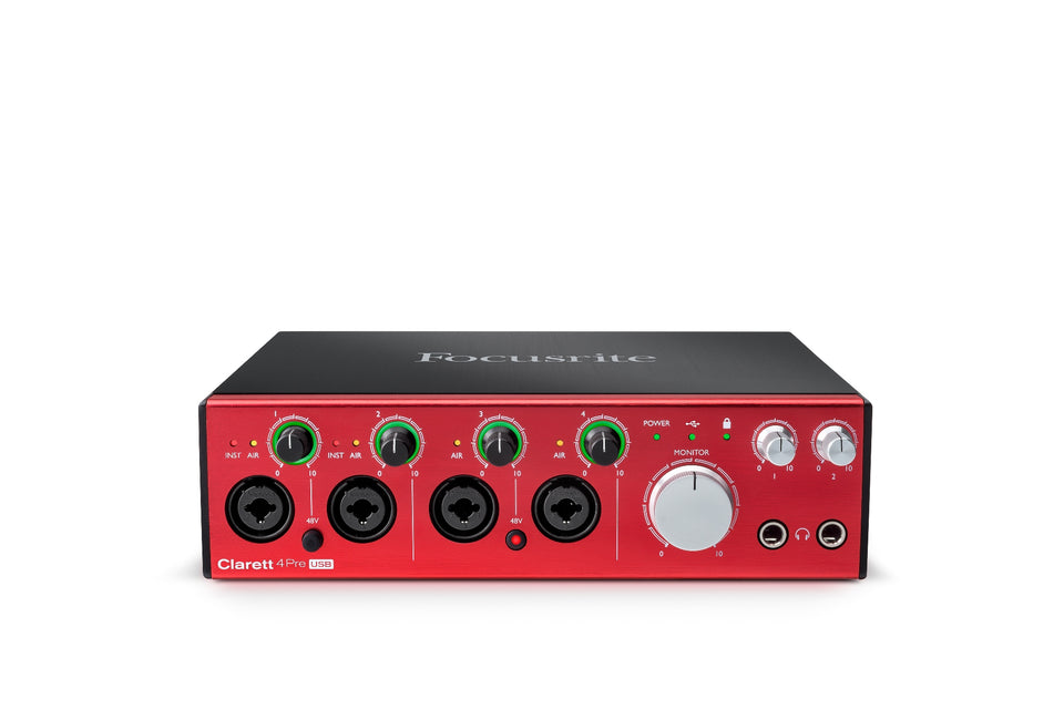 Focusrite Clarett 4Pre 18x8 USB Audio Interface