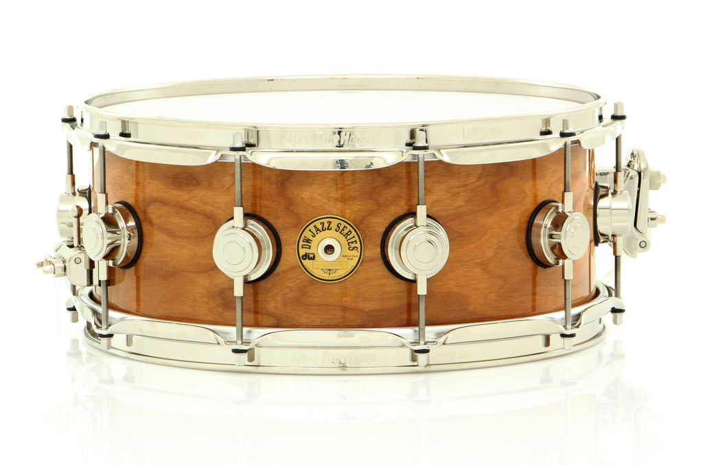 "Drum Workshop 14"" x 5.5"" Jazz Cherry/Gum Series Snare Drum Natural Lacquer With Nickel Hardware"