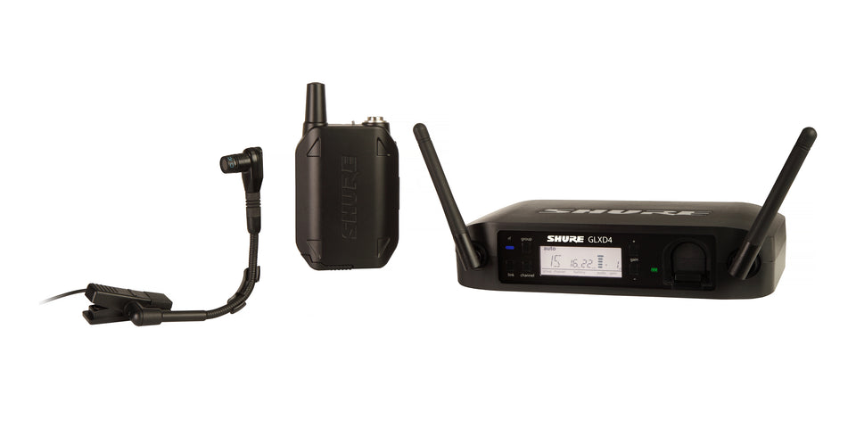Shure GLXD14/B98H 2.4 GHz Wireless Horn / Instrument System W/ BETA98H Horn Microphone