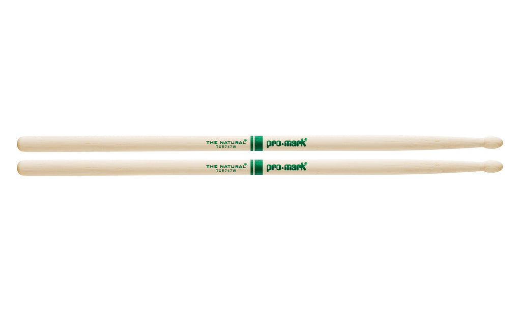 Promark TXR747W Hickory 747 The Natural Wood Tip drumstick