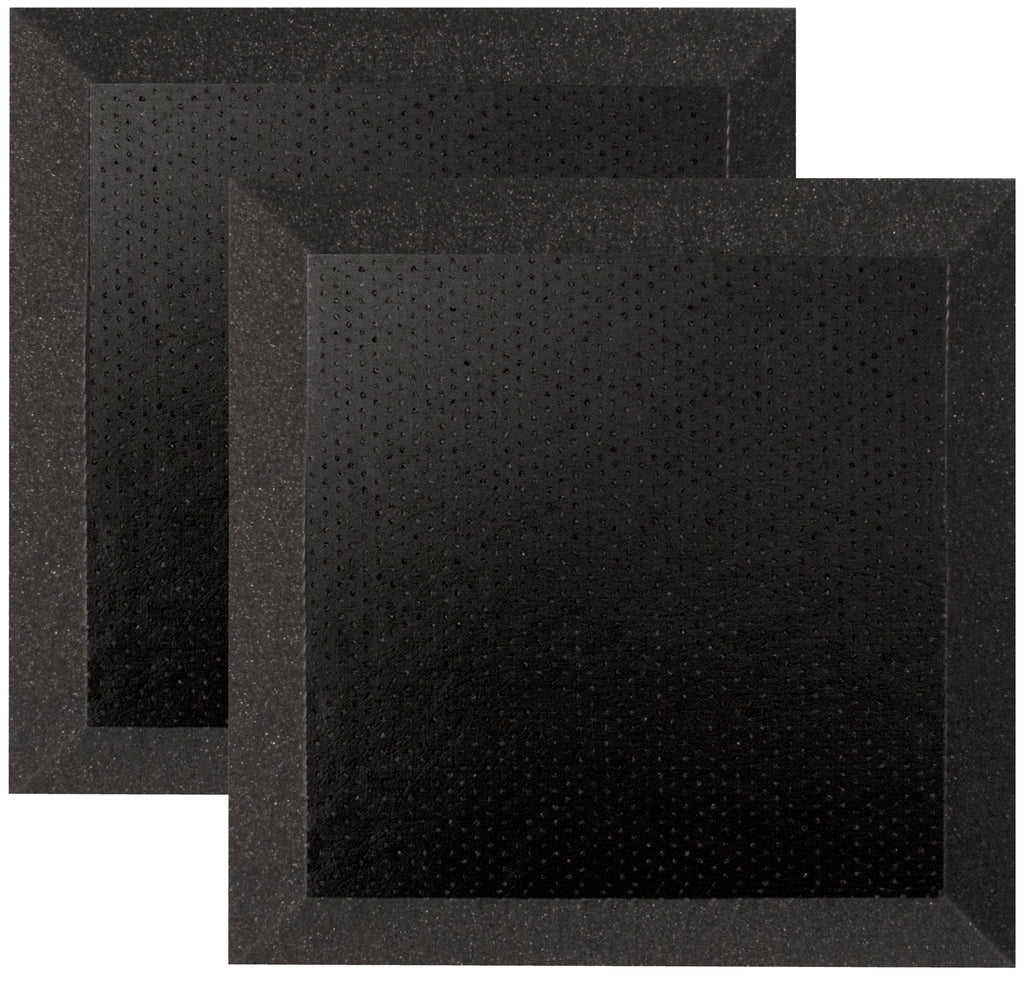 "Ultimate Support UA-WPBV-12 Bevel-style Absorption Panel Professional Studio Foam with Vinyl Layer - 12""x12""x2"" (Pair)"