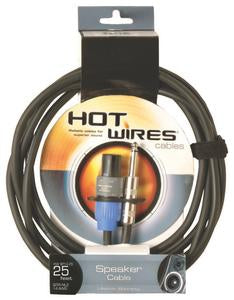 "Hot Wires SP14-25SQ 25' Speakon to 1/4"" Cable"