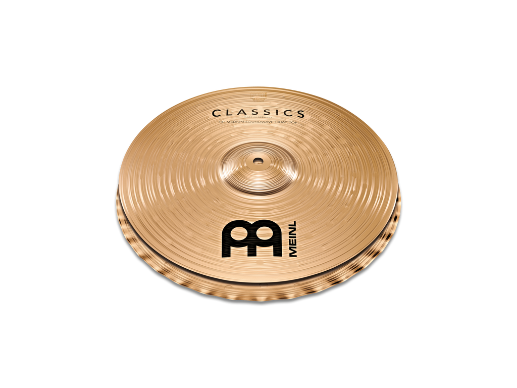 "Meinl 14"" Classics Medium Soundwave Hi-Hat Cymbals"