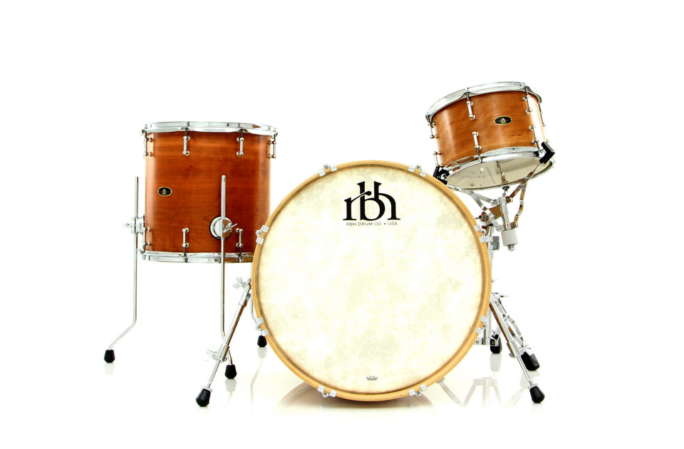 RBH Drums Monarch 3-Piece Shell Pack Natural Cherry With Vertical Inlay