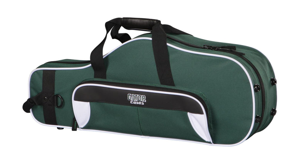 Gator GL-ALTOSAX-WG Spirit Series Lightweight Alto Saxophone Case, White And Green