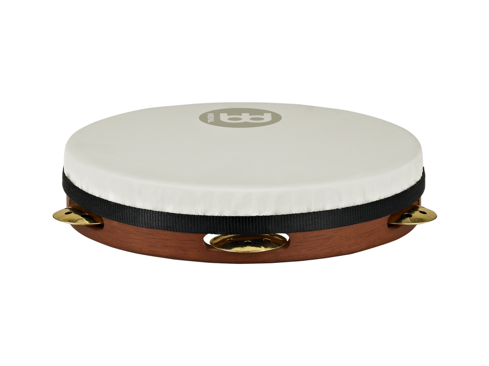 "Meinl PAV10AB-M-TF Shell-Tuned Synthetic Head Pandeiro 10"" Vented Jingles"