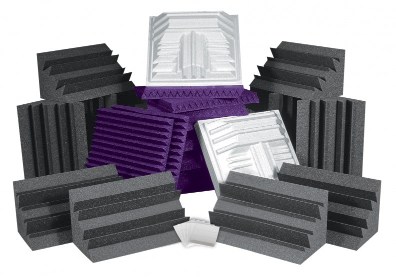 AURALEX ACOUSTICS ROOMPROPLUSPUR Pro Plus Roominator Acoustic Treatment Kit - Purple