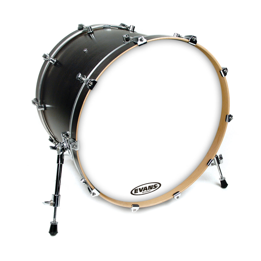 "Evans 22"" EQ3 Resonant Smooth White Bass Drum Head No Port"