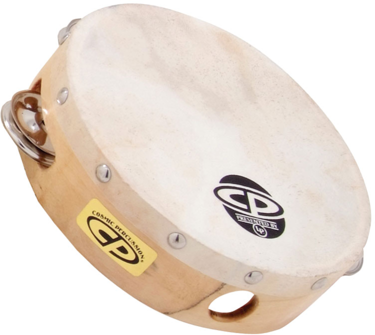 "LP CP376 CP 6"" Wood Headed Tambourine With Single Row Jingles"