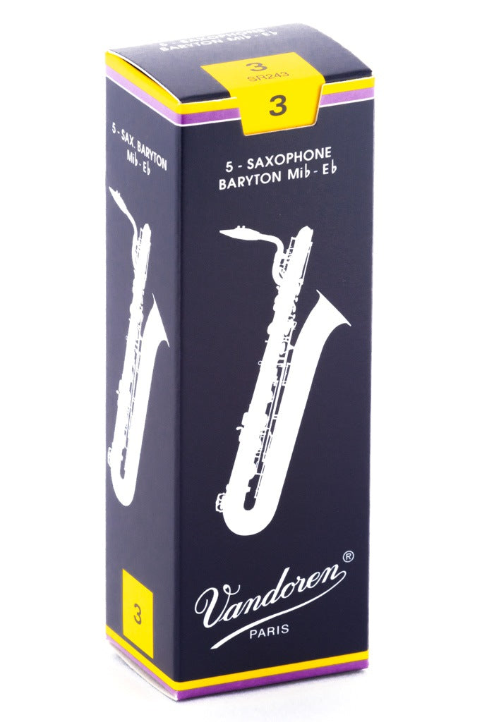 Vandoren Traditional Baritone Sax Reeds, #3 - Box of 5