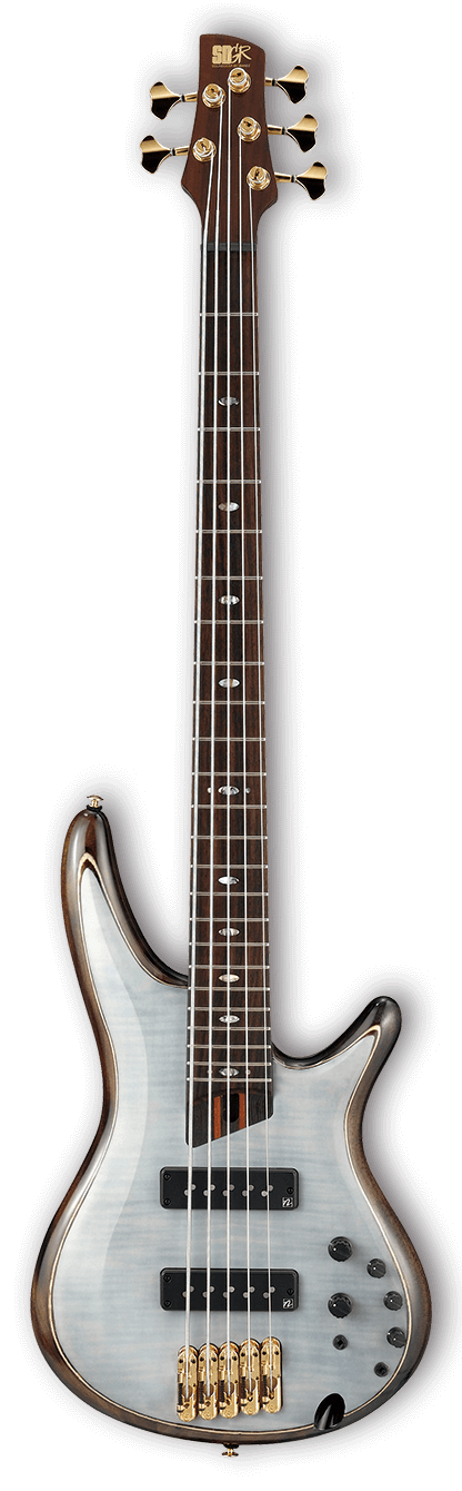 Ibanez SR1405E Premium 5 String Electric Bass - Glacial White