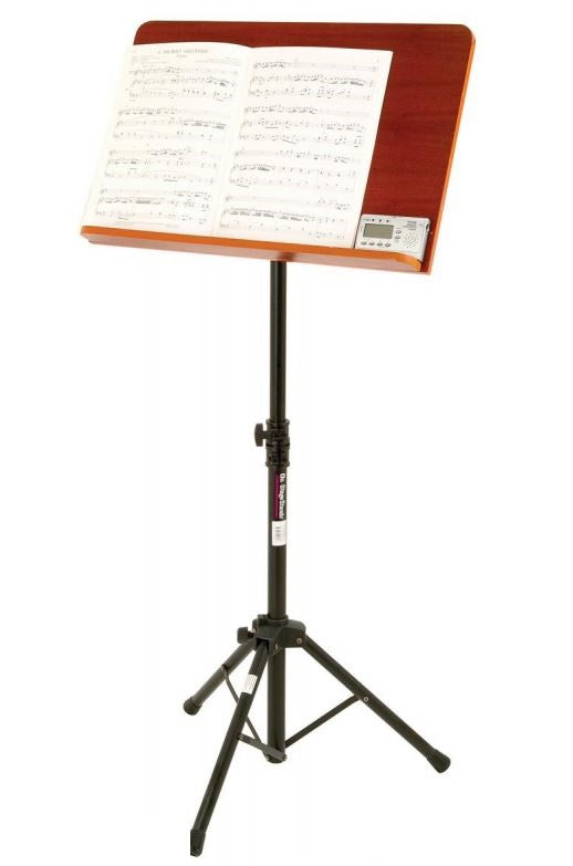 On-Stage Stands SM7312W Conductor Stand W/ Wide Rosewood Bookplate