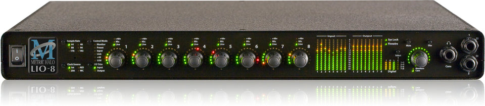 Metric Halo LIO-8 Line Level Digital Audio Processor W/ 4 Preamps And DSP
