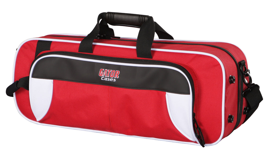 Gator GL-TRUMPET-WR Spirit Series Lightweight Trumpet Case, White And Red