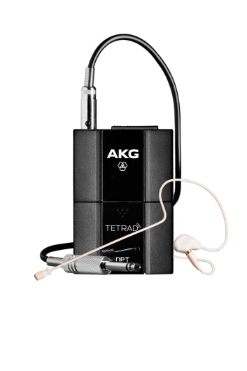 AKG DPTTetrad Digital Wireless Body-Pack Transmitter W/ C111L Earset Microphone